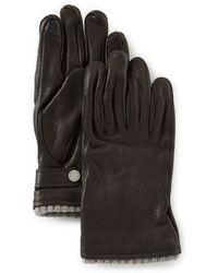 Polo Ralph Lauren - Men's Genuine Deerskin Gloves With Knit Cuffs - Lyst