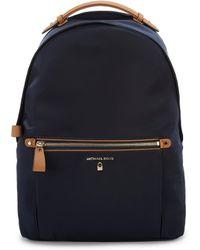 2446cfc92020 Lyst - MICHAEL Michael Kors Large Kelsey Nylon Backpack in Blue