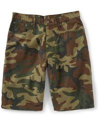 d32859e5847c Levi's Big & Tall 569tm Loose Fit Denim Shorts in Black for Men - Save 17%  - Lyst
