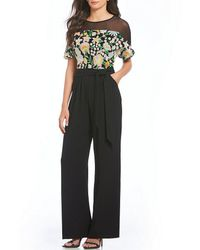 Eva Franco - Embroidered Blouson Jumpsuit - Lyst