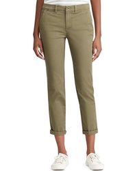 Lauren by Ralph Lauren - Lauren By Ralph Lauren Stretch Cotton Skinny Pant - Lyst