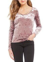 Banjara - Velvet Braid Trim Long Sleeve Pullover - Lyst