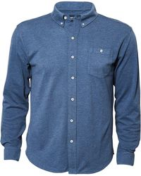 North 56'4 - Big & Tall Solid Long-sleeve Woven Shirt - Lyst