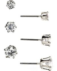 Anne Klein - Trio Stud Earrings Set - Lyst