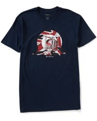 Ben Sherman - Classic Fit Short-sleeve Scooter Target Graphic T-shirt - Lyst