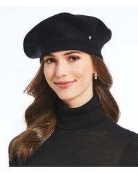 Lauren by Ralph Lauren - Ladies' Velvet Trim Beret - Lyst