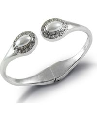 Lucky Brand - Pearl Circle Stone Cuff Bracelet - Lyst