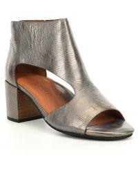 Gentle Souls Charlene Leather Block Heel Sandals
