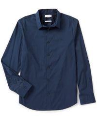 8ec3af445a3 Lyst - Calvin Klein Classic Fit Non-iron Ministripe Cotton Shirt in ...