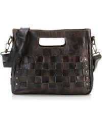 Bed Stu   Orchid Studded Woven Satchel   Lyst