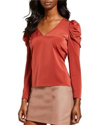 Gianni Bini - Jienne Puffed Statement Shoulder V-neck Blouse - Lyst