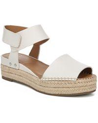 1a1c0b6df048 Franco Sarto Sarto By Oak Suede Ankle Strap Espadrille Sandals - Lyst