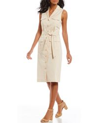 Antonio Melani - Samantha Button Down Sleeveless Utility Dress - Lyst