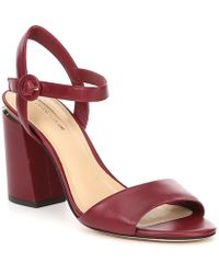 97ccb5ee215 Lyst - Antonio Melani Sarita Patent Leather Platform Dress Sandals ...