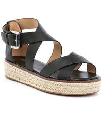 ced52ffe6b08 MICHAEL Michael Kors - Darby Vachetta Leather Flatform Espadrille Sandals -  Lyst