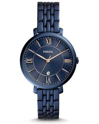 Fossil - Jacqueline Three-hand Stainless Steel Bracelet Watch - Lyst