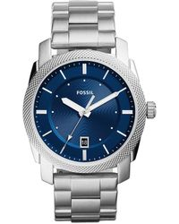 Fossil - Machine Analog & Date Bracelet Watch - Lyst