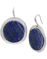 Robert Lee Morris - Semiprecious Lapis Drop Earrings - Lyst