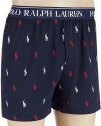 6c53b22ed22ec8 Polo Ralph Lauren All Over Pony Player Woven Boxer in Black for Men - Save  28% - Lyst