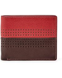 Fossil - Rfid Cody Leather Bifold Flip Id Wallet - Lyst