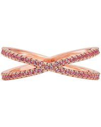 Michael Kors - Women's Custom Kors Sterling Silver Nesting Ring - Lyst