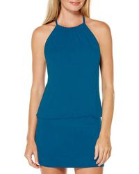 Laundry by Shelli Segal - Solid Blouson Dress Cover-up - Lyst
