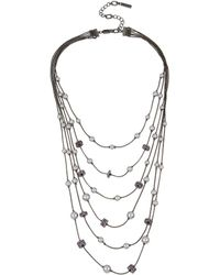 Kenneth Cole - Pearl Illusion Necklace - Lyst