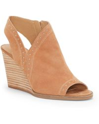 Lucky Brand - Ulyssas Suede Western Inspired Studded Wedges - Lyst