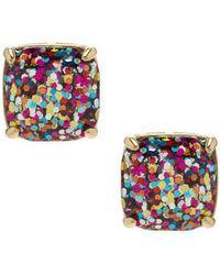 Kate Spade - Glitter Stud Earrings - Lyst