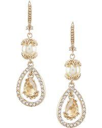 Marchesa - Silk Stone Double Drop Statement Earrings - Lyst