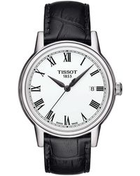 Tissot - T-classic Carson Analog & Date Leather-strap Watch - Lyst