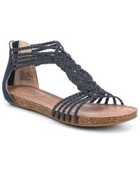 Me Too - Adam Tucker By Nakira Braided Woven Sandals - Lyst