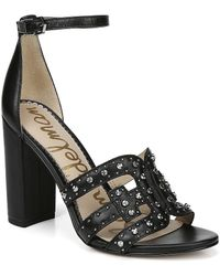 d6458f37711 Sam Edelman - Yasha Studded Dress Sandals - Lyst