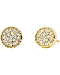 Michael Kors - Custom Kors Collection Sterling Silver Pave Stud Earrings - Lyst