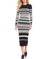 Ella Moss - Peyton Striped Long Sleeve Sweater Dress - Lyst