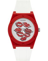 Guess - Retro Silicone Lips Watch - Lyst