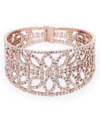 Anne Klein - Rhinestone Cuff Bracelet - Lyst