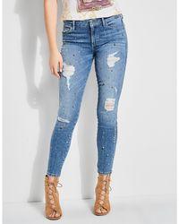 Guess - Flourish Indigo High Rise Sexy Curve Skinny Jeans - Lyst