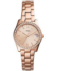 Fossil - Scarlette Analog & Date Bracelet Watch - Lyst