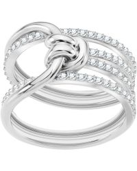 Swarovski - Lifelong Statement Ring - Lyst