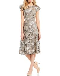 c9be532e02b Antonio Melani - Ella Metallic Sequin Midi Dress - Lyst