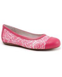 Softwalk - Napa Rose Print Flats - Lyst