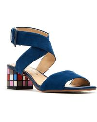 Katy Perry - The Margot Suede Ankle Strap Block Heel Sandals - Lyst