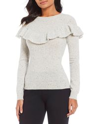 Antonio Melani - Luxury Collection Giselle Cashmere Ruffle Yoke Sweater - Lyst