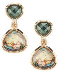 Anne Klein - Abalone Clip Earrings - Lyst