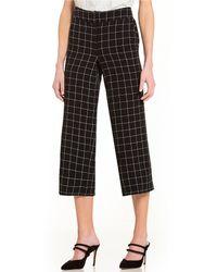 Jones New York - Windowpane Plaid Culotte Wide Cropped Pants - Lyst