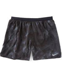 24483710b3e9 Lyst - Nike Men's Distance Printed Running Shorts in Blue for Men