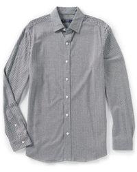 Cremieux - Chevron Stripe Jacquard Long-sleeve Knit Shirt - Lyst
