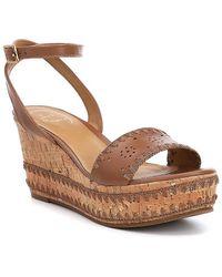 Lennon Whipstitch Detail Ankle Strap Wedge Sandals p2hFBv