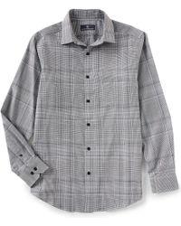 Hart Schaffner Marx - Long-sleeve Spread Collar Large Jaspe Plaid Sportshirt - Lyst